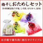ショッピング梅 梅干し 個包装 おためしセット(うす塩、しそ漬、はちみつ、昆布) 各4粒