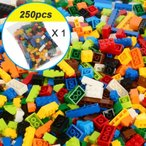 レゴ互換ブロック 250ピース ボーイズカラー シンプルな形 約8種類