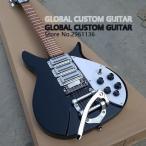 リッケンバッカー スタイル エレキギター 34インチ ホワイト ブラック ギターのみ 初心者 rickenbacker タイプ