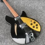 リッケンバッカー スタイル 40インチ エレキギター ゴールド ブラック ギターのみ 初心者 rickenbacker タイプ
