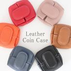 コインケース 小銭入れ 本革 レザー レディース メンズ 男女兼用 小物入れ 手のひらサイズ ボタンホック 薄い 小さい 開けやすい 丸い 財布