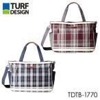 ターフデザイン TDTB-1770 トートバッグ ボストンバッグ チェックワイン TURF DESIGN 在庫限りの特別価格 即納