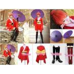 神楽(かぐら))風 コスプレ衣装 靴下付き 銀魂 神楽(かぐら))風コスプレ衣装 ウィッグ 靴 傘ba001c0