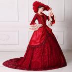 レッドドレス オペラ声楽 中世貴族風豪華お姫様ドレス ウェディングドレス プリンセスライン 演劇 ドレス 宮廷服ドレス 舞台ステージ衣装d9080f0f0y5