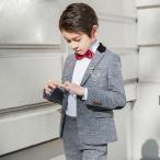 グレー スーツ キッズスーツ 男の子 スーツ 卒園式 七五三 子供服 ベビー フォーマル スーツ 男児スーツ 入学式 結婚式  発表会お受験