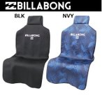 ビラボン シートカバー  ドライバーシート保護用    AI012-950   SEAT COVER   車 おしゃれ BLK_ブラック