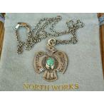 ショッピングNORTH ノースワークス25セントサンダーバードペンダント ターコイズNorth Works 25¢THUNDERBIRD PENDANT TQ/50cm Chain