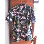 ショッピングSHIRTS Made in USA Robert J. Clancey Aloha Shirts コットンアロハシャツPink Flamingo Black