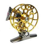 アルミ合金製 チヌ リール 落とし込みリール 3色バリエーション レッド / ゴールド / ブラック