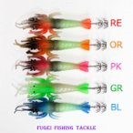わけあり 夜光 イカ釣り 仕掛け 2段釣り針 イカ用 疑似餌 1本 色選択できます【Y20sfebisikake】