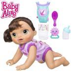 ベビーアライブ ベビーゴーバイバイ ハイハイできるよ ブルネット ドール 人形 赤ちゃん おままごと Baby Alive Baby Go Bye Bye Brunette