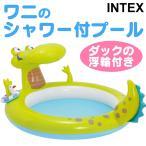 INTEX アリゲータースプレープール ワニスプレープール ワニプール ビニールプール コストコ costco 子供用 家庭用プール インテックス 水遊び 水浴び シャワー