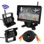 トラック、バス、重機対応 ワイヤレスバックカメラセット 12/24V 7インチ液晶モニター バックカメラ有線・無線各1個 モニター2チャンネル同時使用可 OMT76SETPRO