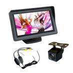 広角170度 CMDバックカメラA206C搭載バックカメラセット ワイヤレストランスミッター付 4.3インチ オンダッシュモニター WBT43A206