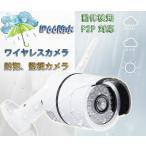 監視/防犯カメラ ワイヤレスカメラ IP66防水 720P 100万画素 IR-CUT 暗視機能 P2P  動体検知 スマホで確認 754GB