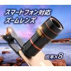 スマートフォン用望遠レンズ 8倍 クリップ式 iphone/Androiスマホ対応  SLENS8X