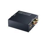 オーディオ変換器 デジタルからアナログ変換 DAコンバーター TOSLINK入力 コンポジット出力 USB、光ケーブル付き 3.5mm出力 イヤホン対応 DACSET35M