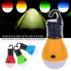 野外アウトドア 吊式 3LED電球 夜釣り キャンプ 登山 テントランタンライト 乾電池単四使用 ポータブルフック提灯 防滴電球LED 点灯モード3種類 TE3LED