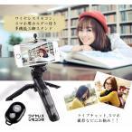 カメラ固定スタンド 三脚 自撮り Bluetoothリモコン 固定ホルダー お得な3点セット アクションカメラ デジカメもOK コンパクト 収納持ち運び便利 TAKO03SET