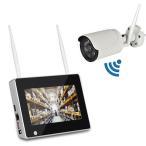 7インチモニター無線防犯カメラセット 130万画素 高画質 無線NVR + WIFIカメラ1台 屋内・屋外両用 スマホ/タブレット対応 遠隔監視 日本語 HDD録画 CSY711