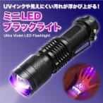 LEDブラックライト 365nm UVインクや見えない汚れを確認 真贋鑑定に UV懐中電灯 手のひらサイズ 頑丈アルミ 乾電池式 焦点調節可 紫外線ライト 防水 XPE365