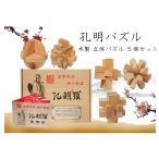 孔明鎖 孔明パズル 知育 教育玩具 脳トレ 大人も子供も 木製 立体パズル ギフト 木製パズル 中国伝統ゲーム  5個セット KMEPP5S