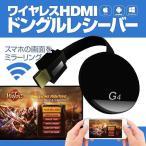 HDMIドングルレシーバー iPhone Android対応 ミラーリング 5GHz 2.4GHz 1080P AirPlay Miracast Dlna Wecast 高速転送 ワイヤレスレシーバー WFCSCG4