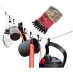 キャンプロープフックセット フック10個付き ハンガー ハンギングチェーン カラビナ付き ストッパーで長さ調節可 やかん、コップ、ランプ、鍋、衣類 SDKRP08F