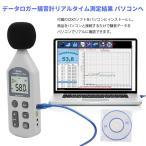 デジタル騒音計 騒音データロガー リアルタイム測定結果をパソコンへ出力保存 バックライト 工場 職場 交通騒音 精度0.1dB サウンドメーター NDHY1361