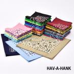 まとめ買いクーポンあり HAV-A-HANK トラディショナル ペイズリー バンダナ アメリカ製  ハバハンク  PAISLEYS BANDANA MADE IN USA FUNNY ファニー