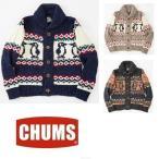 セール CHUMS/チャムス/パークシティーニットジャケット CH04-1014 ニット カウチン セーター カーディガン ジャケット アウトドア
