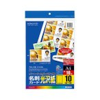 (まとめ)コクヨカラーLBP&PPC用名刺カード 光沢紙 A4 10面 LBP-VG10 1冊(10シート) 〔×10セット〕