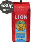 (ライオンコーヒー) バニラ・マカダミアナッツ 680g×3パック (粉)