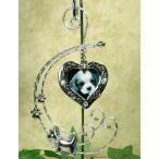 メモリアルオーナメント Jeweled Dog Photo Christmas Ornament - Metal - 6-1/2 Inch ペット 写真 飾り クリスマス 犬 遺骨 遺影