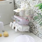 コンパクトでたっぷり収納できる「ステンレス シャンプーラック(3段)」【収納 お風呂 浴室 バスルーム サニタリー 三段 ディスペンサースタンド お風呂収納】