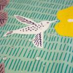 風呂敷 大判 100cm こはれアクアドロップふろしきハチドリ グリーン ポリエステル撥水加工 日本製 レジャーシート 雨よけ 風呂敷バッグ