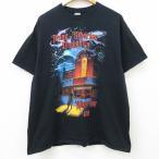 XL/古着 半袖 ロック バンド Tシャツ トランスシベリアンオーケストラ コットン クルーネック 黒 ブラック 21apr05 中古 メンズ
