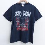 L/古着 半袖 ビンテージ ロック バンド Tシャツ 00s スキッドロウ コットン クルーネック 黒 ブラック 21apr01 中古 メンズ