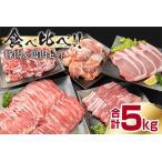ふるさと納税 CD1-191 豚肉(5種)&鶏肉(1種)セット(合計5kg) 宮崎県日南市