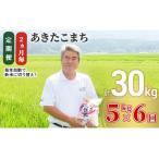ふるさと納税  2ヶ月毎に5kgお届け!あきたこまち(精米)定期便 6回コース(定期便 5kg 30kg) 秋田県にかほ市