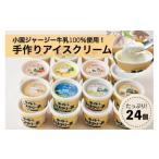 ふるさと納税 【希少なジャージー牛乳100%使用】濃厚!手作りアイスクリーム(24個入) 熊本県小国町