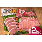 ふるさと納税 B125-20 《期間・数量限定》豚肉3種バラエティセット(合計2kg) 宮崎県日南市