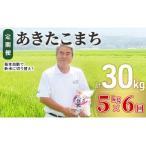 ふるさと納税 〈定期便〉 あきたこまち 白米 5kg×6回 計30kg 6ヶ月 令和3年 精米 土づくり実証米 毎年11月より 新米 出荷 秋田県にかほ市