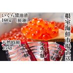 ふるさと納税 いくら醤油漬け(秋鮭卵)80g×2P、時鮭15切  A-11152 北海道根室市