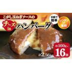 ふるさと納税 010B609 こがし玉ねぎソースのチーズインハンバーグ 計2.56kg(160g×16個) 大阪府泉佐野市