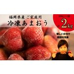 ふるさと納税 TY015福岡県産 冷凍あまおう 2kg(500g×4パック) 福岡県宇美町