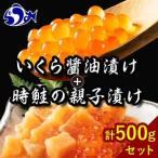 ふるさと納税 時鮭の親子漬け・醤油いくらセット(計500g) F21M-123 北海道羅臼町