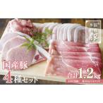 ふるさと納税 005A349 氷温(R)熟成豚 国産豚4種セット 1.2kg 大阪府泉佐野市