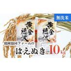 ふるさと納税 Z03-001【令和3年産米】はえぬき無洗米10kg(5kg×2袋) 山形県鶴岡市
