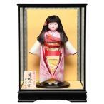 【市松人形】13号市松人形:正絹総絞染衣装:敏光作:ケース入り【木目込市松人形】【浮世人形】